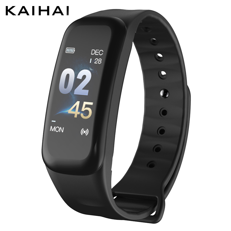 KAIHAI Smart Bracelet Color Screen Blood Pressure Fitness Tracker wristband watch Heart Rate Monitor Band Sport for Android IOS cf007 smart band heart rate blood presure monitor smart watch sport tracker monitor smart bracelet wristband for ios android
