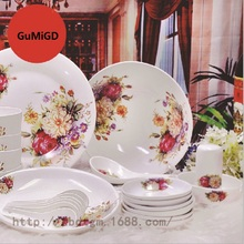 Bone China Dinnerware Set Ceramic Plates and Dishes Bowls 19pcs 28pcs 48pcs  50pcs combination Tableware Ceramic стоимость
