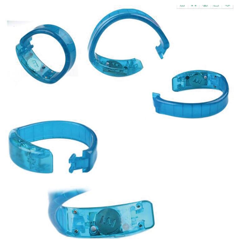 Röststyrning blinkande armband mini ledd ljus led armband - Semester och fester - Foto 6