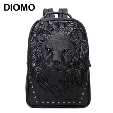 Diomo женские Модные рюкзак Лев рюкзак из искусственной кожи Школьные рюкзаки для девочек-подростков школьная сумка Mochila Escolar