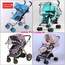 Babycare Baby Stroller Accessories Rain Cover PVC Universal Waterproof Wind Dust Zipper Open Transparent kid Carriage