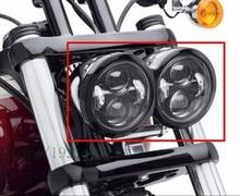 """2 Pcs Moto 4.65 Inch Moto Rotonda Proiettori Per Harley Dyna FXDF Modello di Guida Lampade 5 """"Fat Bob Proiettore fari A LED"""