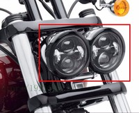 2 Pcs Motorcycle 4.65 Inch Daymaker Round Headlamps For Harley Dyna FXDF Model Driving Lamps 5 Fat Bob Projector LED Headlights