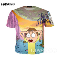 LIASOSO Pickle Rick T Shirt Mens Rick And Morty New Anime Funny T Shirt Summer T