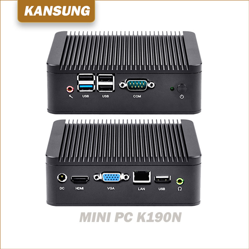 Cheap 12v Fanless Mini Pc Computer Personal Server Assemble Desktop Celeron J1900 Quad Core Processor KANSUNG Industrial Imini все цены