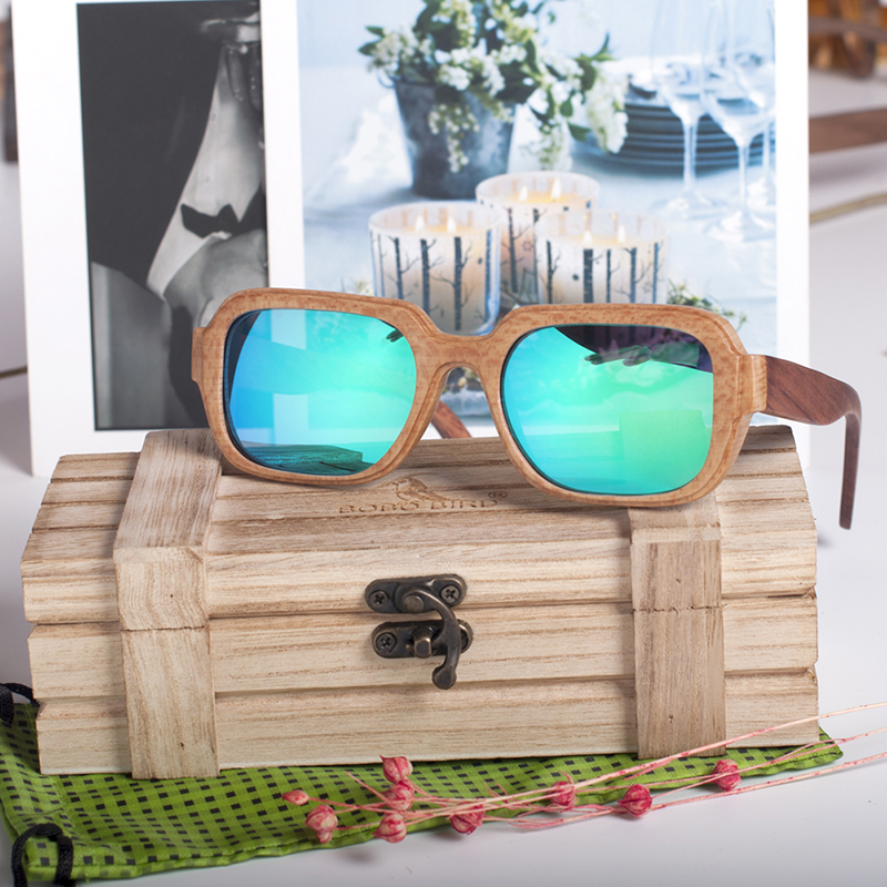 Bamboo Square Polarised Sunglasses