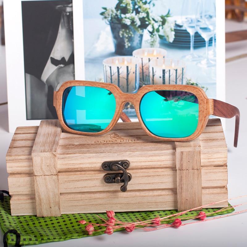 Bamboo Square Polarised Sunglasses