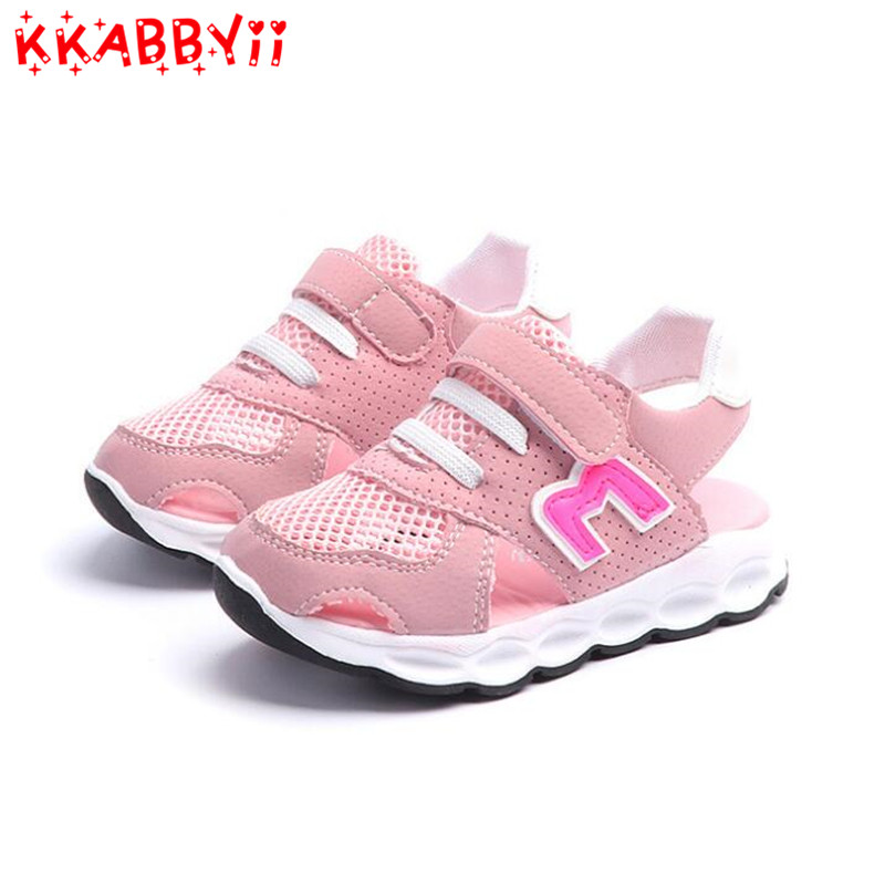 New Summer Mesh Kids Shoes Children Leisure Sandals Boys Girls Fashion Soft Sandals Kids Baby Casual Shoes EUR 21-30