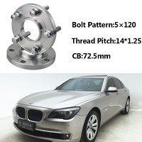 2pcs 5x120 72.5CB Centric Wheel Spacer Hubs M14*1.25 Bolts For BMW F02 F03 F10 F11 F12 F20 F30 F26 F01 F13 F15 F34 F21 F33