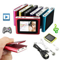 6th Gen 1.8 Inch screen Clip FM Radio  Mp3 Player Support 4/8/16/32GB Micro SD/TF Including Headphone And Mini USB Cable