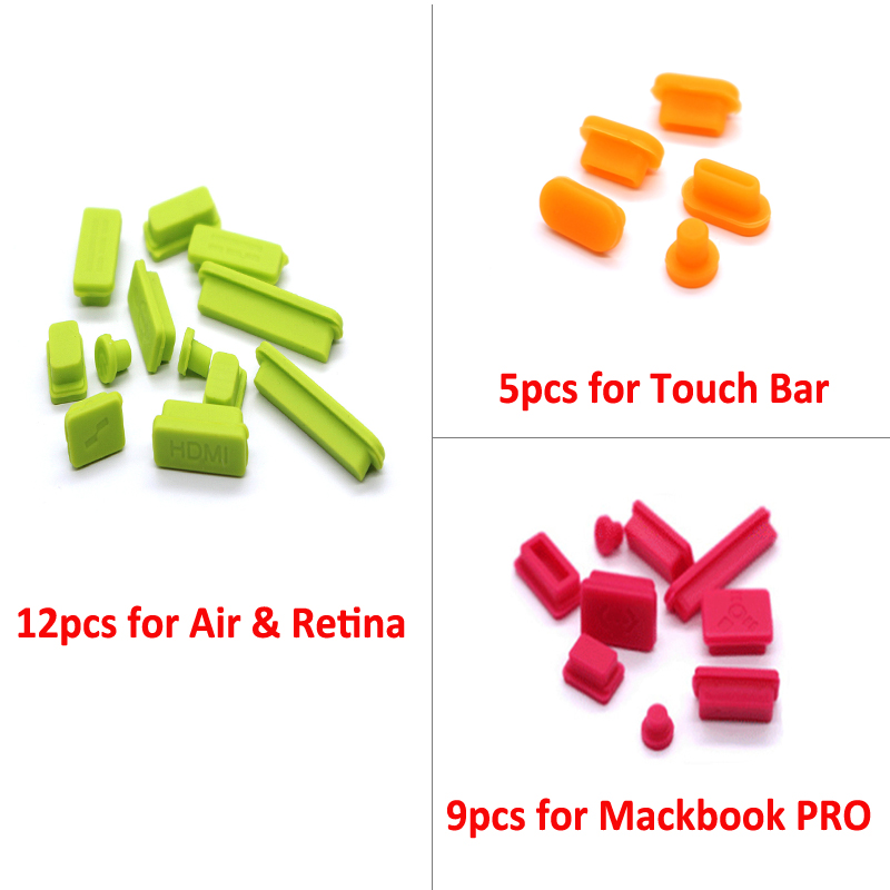 Laptop Port Dust Plugs Kit for Apple Air & Retina USB Dust Plug for MacBook pro Dust Dust Plug Stopper Laptop for 2016 Touch Bar image