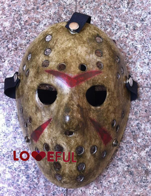 Nueva hacer viejo cosplay delicated jason voorhees freddy festival de hockey de halloween mascarada máscara --- loveful