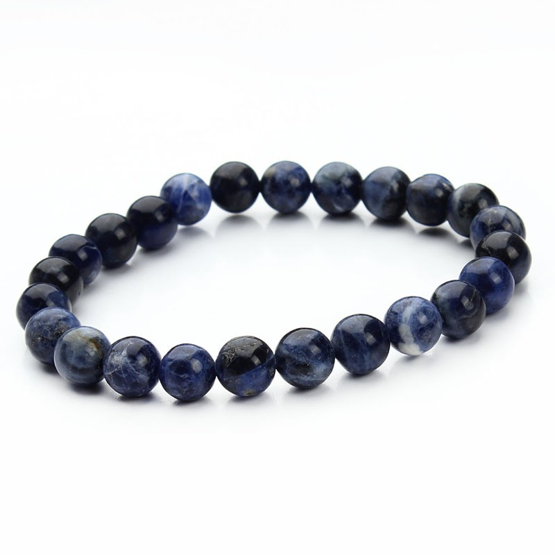 17 New Summer Style Natural Stone Beads Bracelet Women Men Pink Blue White Yellow Red Beaded Stretch Bracelets Bangles F2852 20