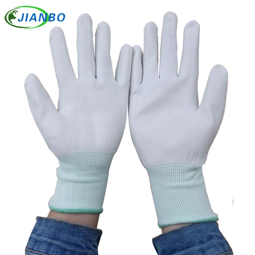 Free Shipping 10 Pairs Anti Static ESD Safe Antistatic Gloves Electronic Working Gloves PU Coated Antiskid For Finger Protection