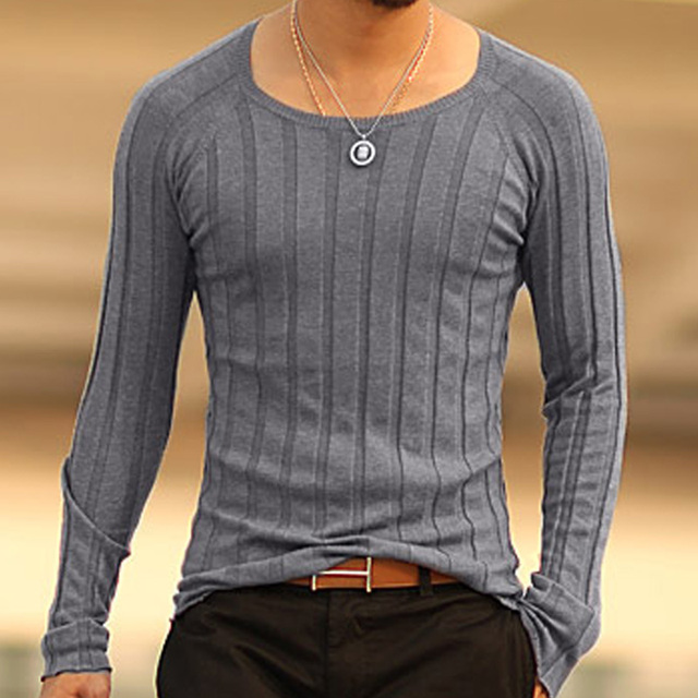 Mens christmas Pullover tops Casual long sleeve shirts Brand Autumn O-neck bottoming sweatshirt Men Cotton knitwear Sweaters