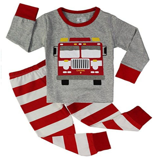 ccbe09488 Boys Truck Pajamas Sets Children 2 Pieces christmas jammies Unisex ...