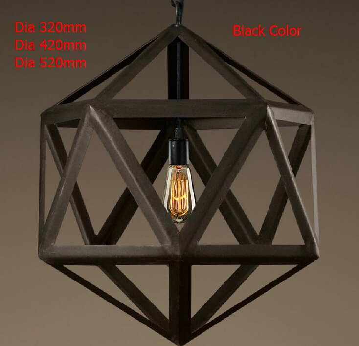 New Nordico Rustic Pendant Lights American Vintage Loft Cage - Overhead hanging lights