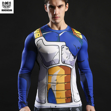 Rocksir Men 3D Dragon Ball Z T Shirt Vegeta Goku Fitness Compression Shirt Fashion Man Crossfit tshirt Gentle Clothing