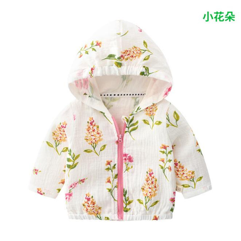 Clothing Jacket Girl Baby Summer New Sunscreen Cotton 6M-3T Short Models Uv-Protection