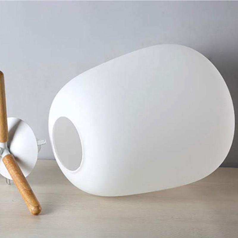 Ultra Mini Moderno Moda Candeeiro de Mesa de Estudo Abajur de Vidro Fosco e Suporte De Madeira Textura com Fonte de Luz Plug EUA - 5