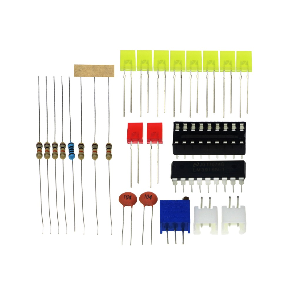 Lm3915 10 Led Sound Audio Spectrum Analyzer Level Indicator Kit Diy 4x4x4 Cube Schematic Light Strip Lighting Wiring Diagram Electoronics Soldering Practice Set In Integrated Circuits From Electronic Components