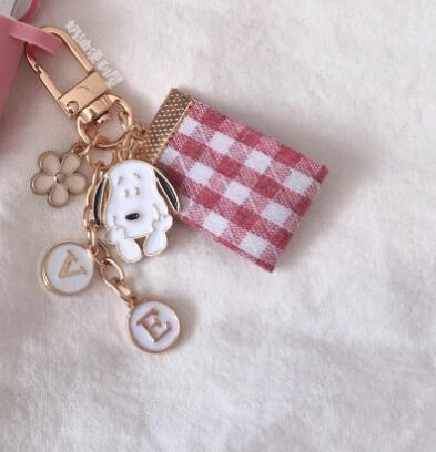 New Cartoon Peanuts Anime Boys Dogs Keychain Jewelry Accessories Key Chains Pendant Gifts Favors