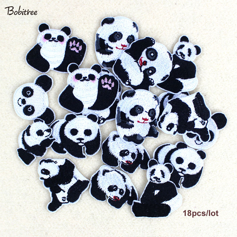 Home & Garden Honest 9p/lot Panda Cartoon Patches For Clothing Hot Iron On Lovely Animal Embroidered Clothes Patches For Children Handmade Agreeable To Taste Patches
