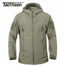 TACVASEN Armee Camouflage Mantel Militärischen Taktische Jacke Männer Softshell Wasserdicht Winddicht Jacke Mantel Plus Größe 4XL Regenmantel