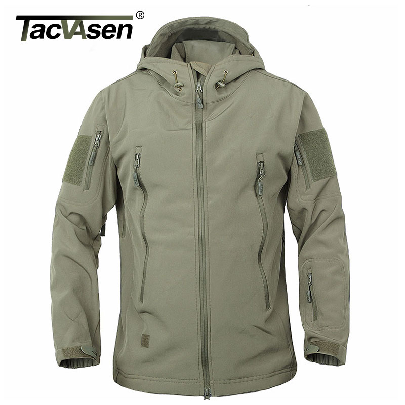 TACVASEN Army Camouflage Coat Military Tactical Jacket <font><b>Men</b></font> Soft Shell Waterproof Windproof Jacket Coat Plus Size 4XL Raincoat