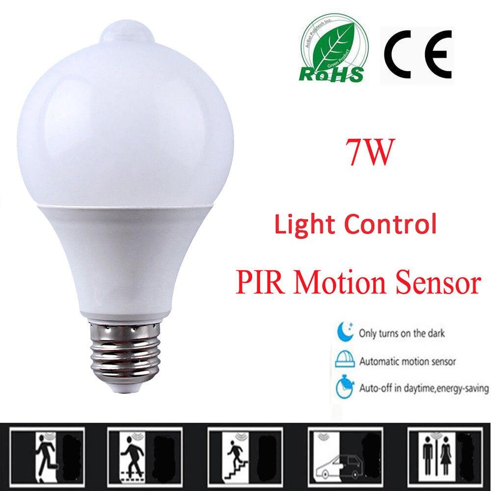 10 PCS PIR Sensor De Movimento LEVOU Lâmpada + Controle De Luz Lâmpada LED Auto Infrared Sensor LED Energy Saving Lâmpadas para escadas de Iluminação E27