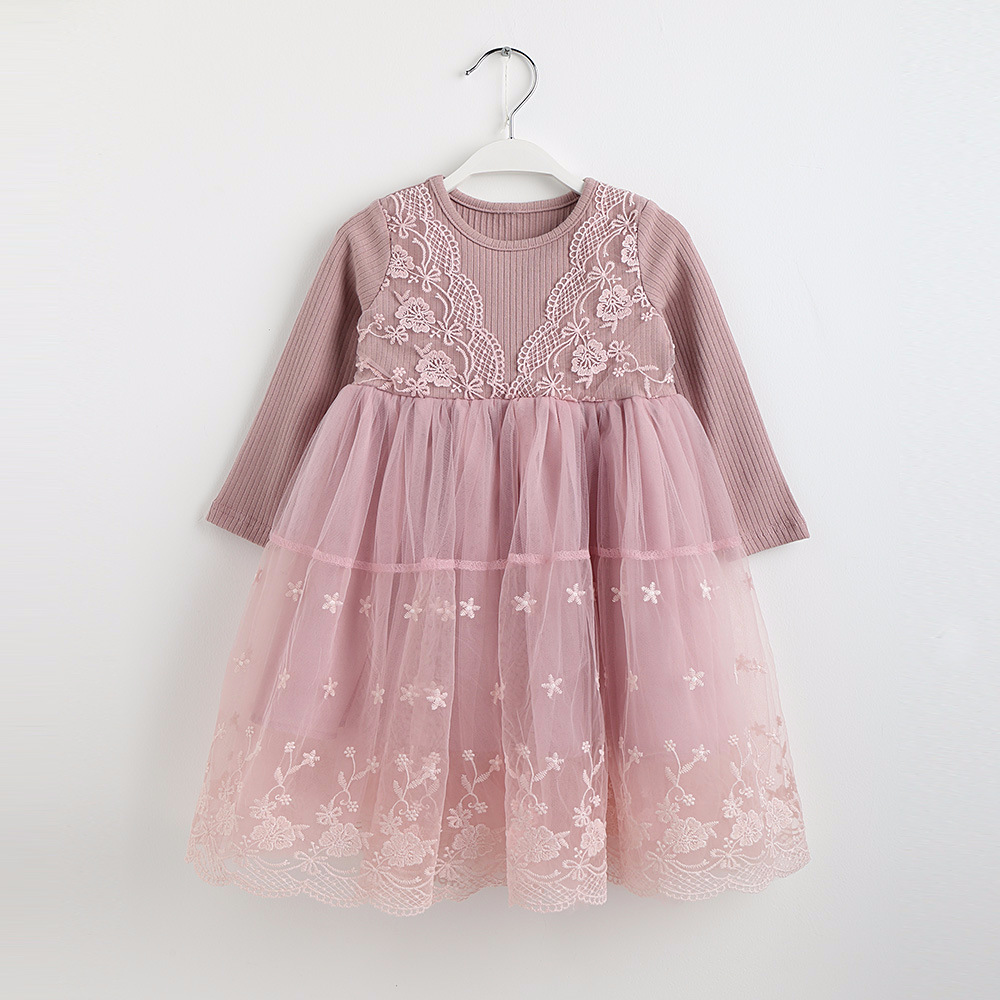 kids clothes baby girls lace dress long sleeve dresses toddler girl spring dress 2018 autumn little gils dresses for 2-8 years ...