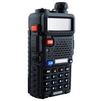 "uv 5r שתי דרך רדיו כף יד ציד VHF & UHF 5W המקצועיים Band Dual מכשיר קשר UV-5R Baofeng המקורי מקמ""ש HF (4)"