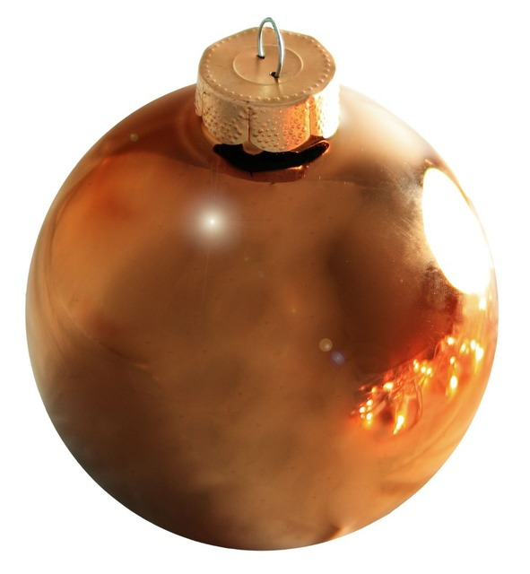 Free Shipping Event Party Bauble Ornaments Christmas Xmas Tree Gl Decoration 80mm Chocolate Ball Ornament