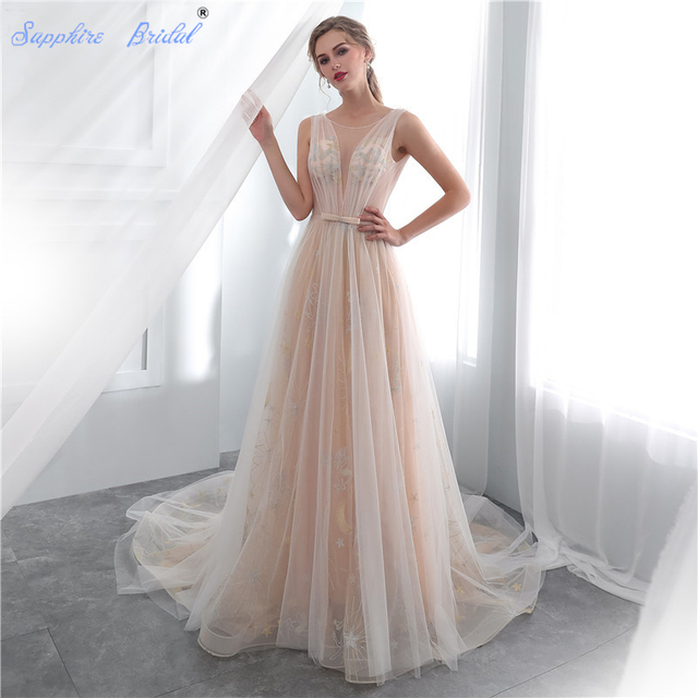 Aliexpress.com : Buy Sapphire Bridal 2019 Illusion Beach Bridal ...