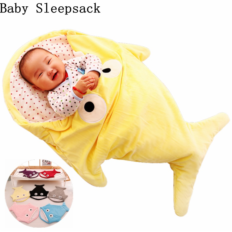 Baby Sleeping Bags Envelope For Newborns Shark Sleepsack Children Winter Swaddle Bedding Blanket Baby Sleep Organic Bed Stroller