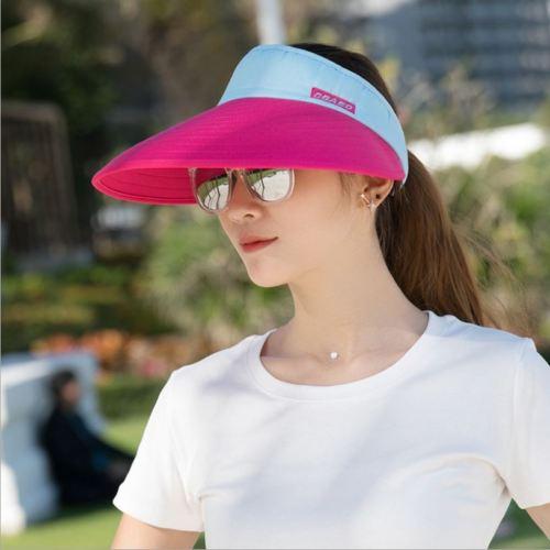 Women s Summer SPF50+ Sports Golf Cap Tennis Cap Visor Headband Riding Wide  Brim Sun Hat c172a5c4d5e
