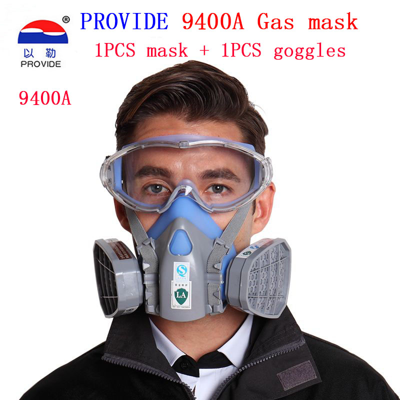 PROVIDE respirator gas mask high quality Goggles + gas masks combination respirator mask cool respirator provide respirator mask respirator mask silica gel dustproof gas masks boxe industrial safety chemical gas mask