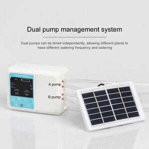 Image 2 - Tropf Bewässerung Solar Bewässerung System Energie Drei Outlets Timed Automatische Bewässerung Gerät Anlage Miniatur Membran Pumpe