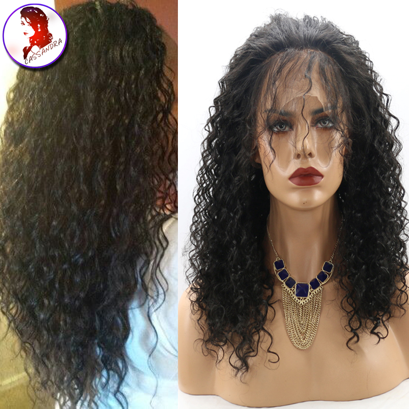 8A Full Lace Human Hair Wigs / Lace Front Wig 100% Unprocessed Virgin Mongolian Hair Wigs For Black Women With Baby Hair