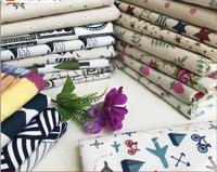 Floral Cotton Linen Fabric Sofa Cloth Canvas Rural Handmade Cloth With Cloth Head Tablecloth Printing Linen