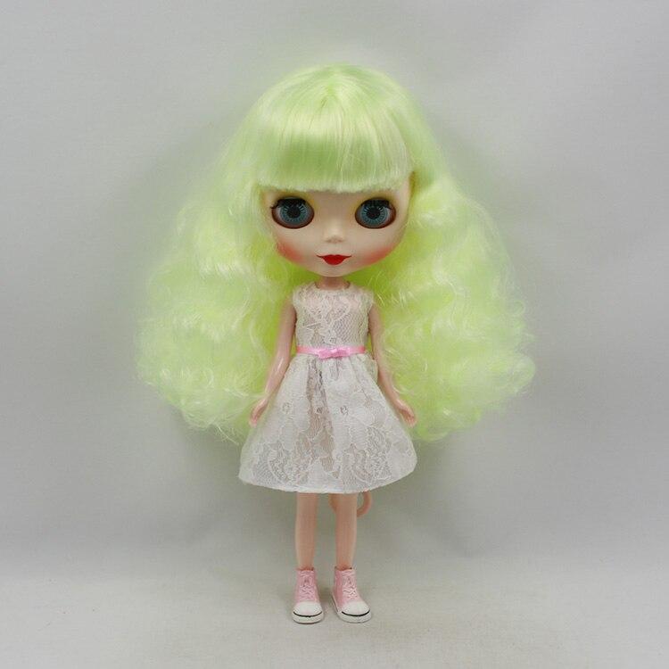 все цены на Beaukiss 12 inch Fashion Blyth Doll Nude Yellow-Green Long Hair Doll Toys For Girls