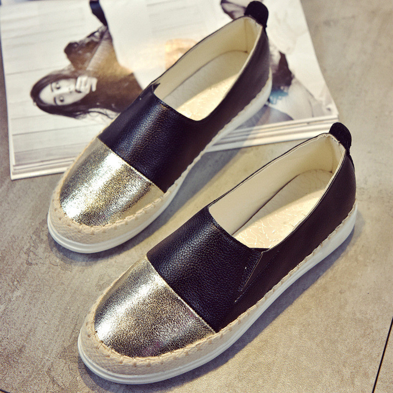 Women Flats Shoes Loafers Shallow Slip On 2018 Summer Autumn Fashion Round Toe Platform Sweet Flat Casual Comfortable