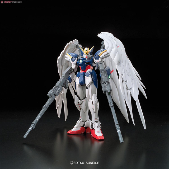 1PCS Gunpla Bandai RG 17 1/144 XXXG-00W0 Wing Gundam Zero EW Mobile Suit Assembly Model Kits oh Anime education toys juguetes bandai hguc 178 1 144 rx 0 full armor unicorn gundam destroy mode mobile suit assembly model kits
