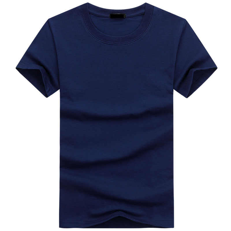 2019 6 ピース/ロット高品質のファッションメンズ Tシャツカジュアル半袖 Tシャツメンズ固体カジュアルコットン Tシャツ夏服