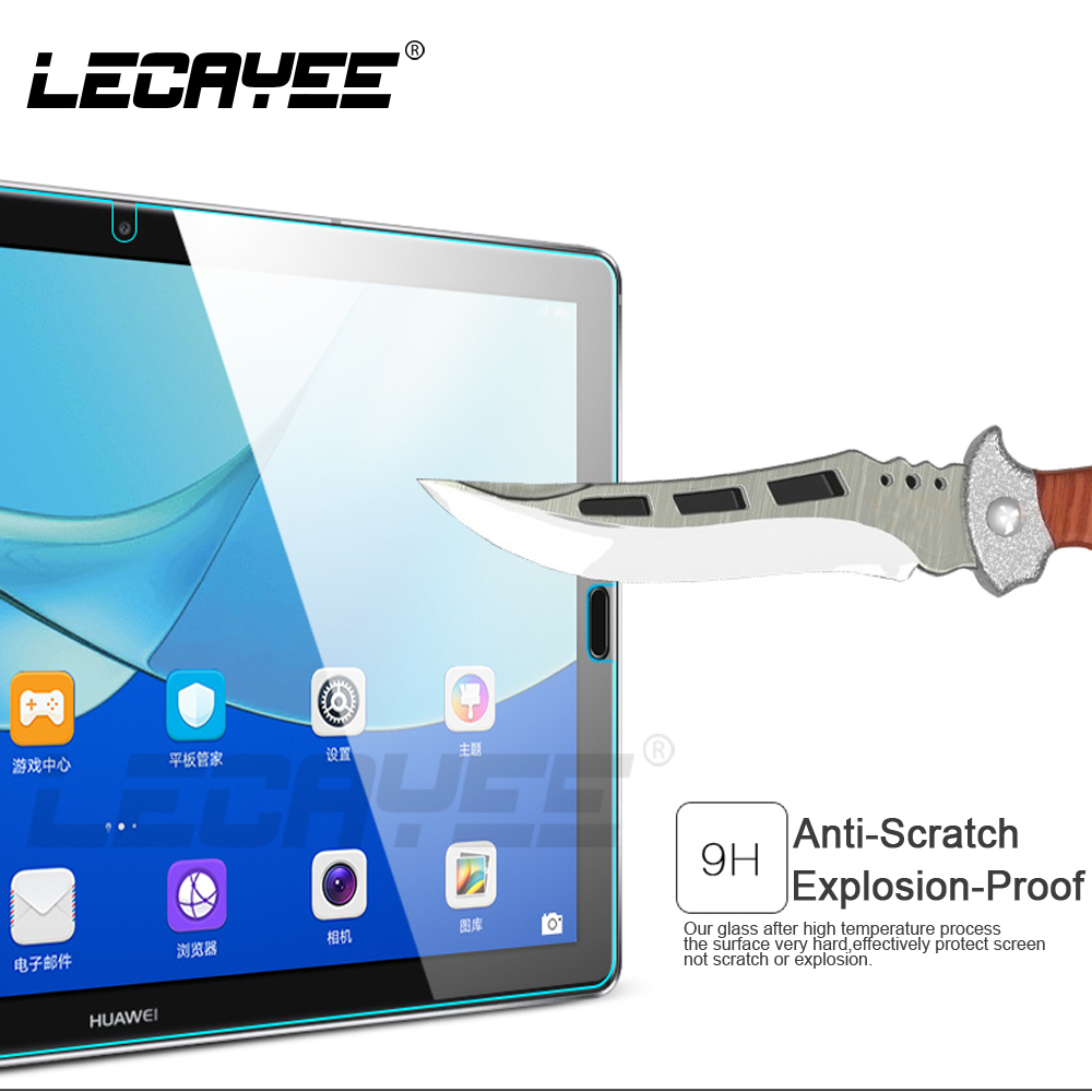LECAYEE For Huawei MediaPad M3 Lite 10.1 8.0 or M5 Pro 10.8 8.4 inch Tablet Cover Screen Protective Glass Clear High Quality
