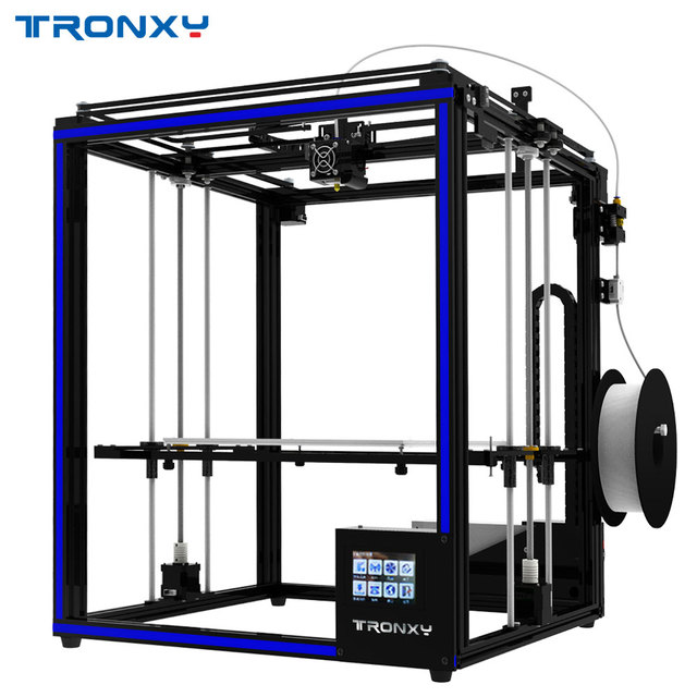 2018 Tronxy 3D מדפסת X5SA-400 גדול יותר הדפסת גודל 3.5 אינץ TFT מגע מסך PLA ABS נימה