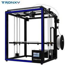 2018 Tronxy 3D принтер X5SA-400 большего формата печати 3,5 дюйма TFT Сенсорный экран Плавная абляция