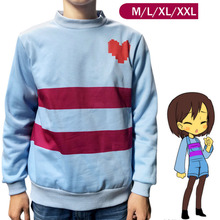 New Game Undertale Frisk Coat Cosplay Costume Warm shirt top Sweatshirt hoody jacket