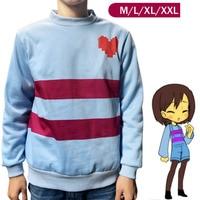 New Game Undertale Frisk Coat Cosplay Costume Warm Shirt Top Sweatshirt Hoody Jacket