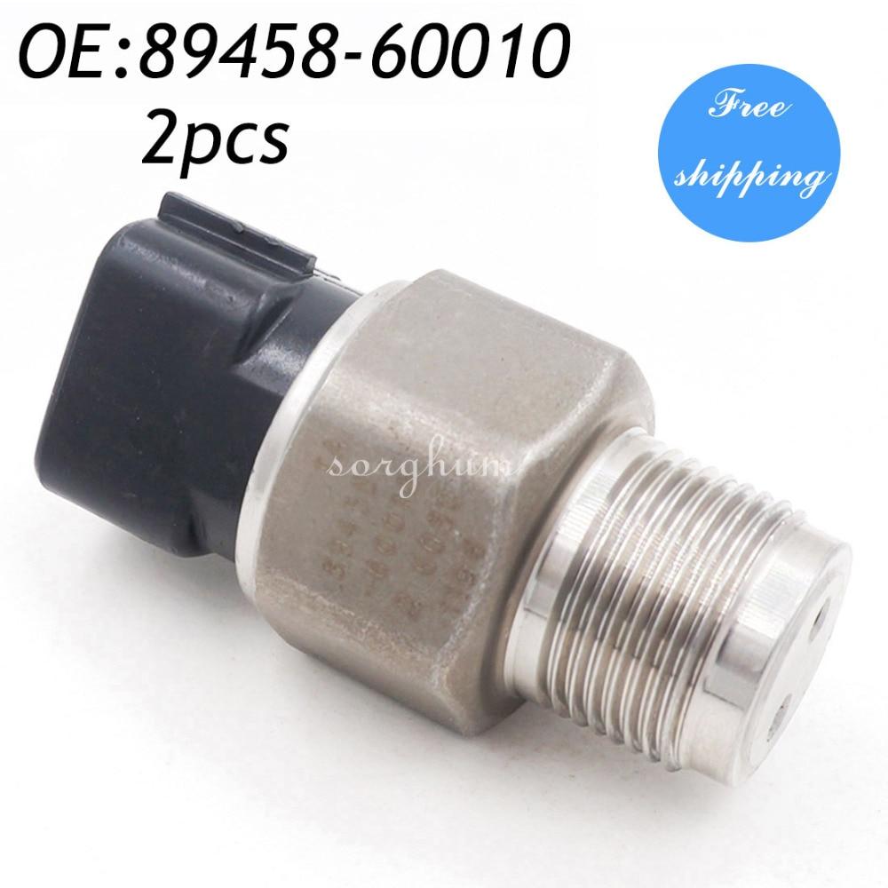 2PCS Rail Fuel Pressure Sensor For Toyota Corolla Hilux RAV4 89458-60010 499000-6080 genuine oem fuel injector pressure sensor denso 6270 499000 6270